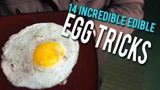 getlinkyoutube.com-14 Incredible Edible EGG Tricks!