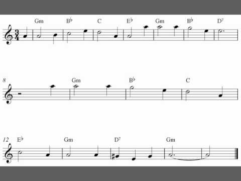 House Of The Rising sun, Tenor saxophone sheet music video