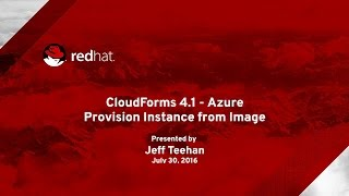 Provision Azure Instance from Private Image