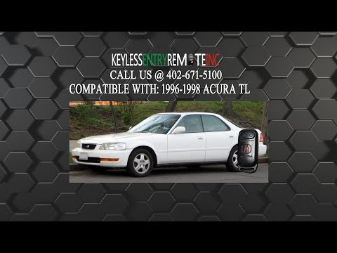 How To Replace Acura TL Key Fob Battery 1996 1997 1998