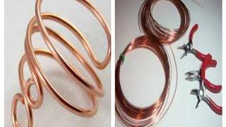 getlinkyoutube.com-تعليم الاكسسوارات للبنات .. خاتم العقله النحاسDIY... Copper wire ring