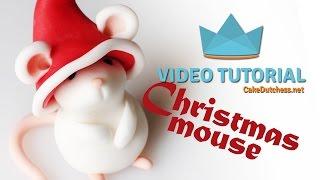 getlinkyoutube.com-How to make a Christmas Mouse Cake Topper - Cake Decorating Tutorials