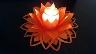 getlinkyoutube.com-Part I - How to make paper flower decoration