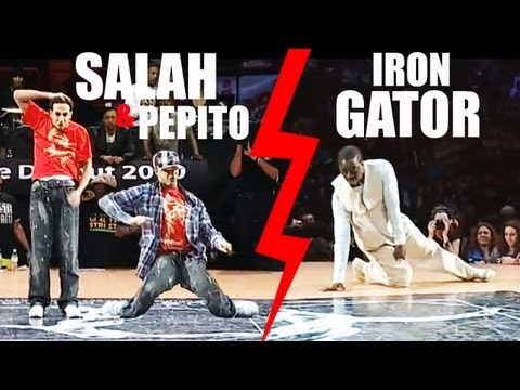 Hip-hop Popping  : Salah & Pepito VS Iron Gator