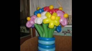 """getlinkyoutube.com-Цветы из шаров от Дизайн-студии """"Шар & Шарм""""703-92-13,701-82-93,"""