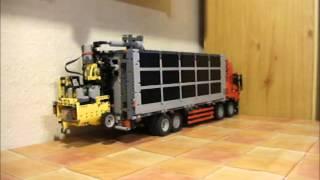 getlinkyoutube.com-Stapler für LKW zum selbstladen aus Lego-Technic
