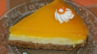 "getlinkyoutube.com-طورطة البرتقال بكريمة جد لذيذة ""طورطة شبيهة لشيز كيك""  Tarta de crema de naranja es muy delicioso"""