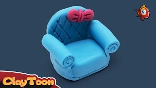 getlinkyoutube.com-SOFA Chair | Polymer Clay tutorial