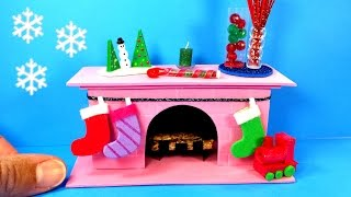 getlinkyoutube.com-DIY Miniature Fireplace - Christmas Holiday Crafts