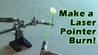 getlinkyoutube.com-Make a Laser Pointer Burn!