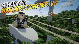 "getlinkyoutube.com-CONSTRUIS TON ATTRACTION AVEC LOOPING ! | Présentation du mod ""ROLLER COASTER V2""! - [1.7.10]"
