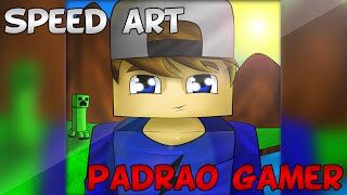 getlinkyoutube.com-SPEED ART CARTOON | PADRÃO GAMER