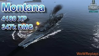 getlinkyoutube.com-World of Warships: Montana, 4180 XP, 347k DMG
