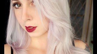 getlinkyoutube.com-Platinando o cabelo com Exotic Colors - Branco Ice