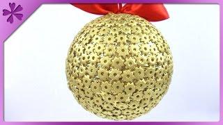 getlinkyoutube.com-DIY Pasta Christmas ball (ENG Subtitles) - Speed up #153