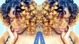 getlinkyoutube.com-Natural Hair | HEATLESS CURLS w/ Curlformers