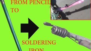 How to make a soldering iron from Pencil Very easy