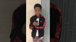 13 Year old raps about mom (Ten toes down challenge)