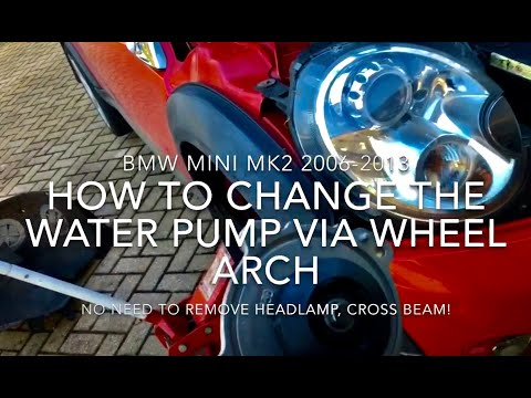 How to Change a MINI Water Pump - via Wheel Arch! - on R55 R56