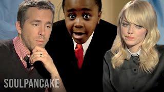 getlinkyoutube.com-Kid President, Emma Stone, Ryan Reynolds & Nic Cage Help a Kid!