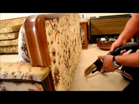 Καθαρισμός υφασμάτινου καναπέ από ύφασμα ντραλόν