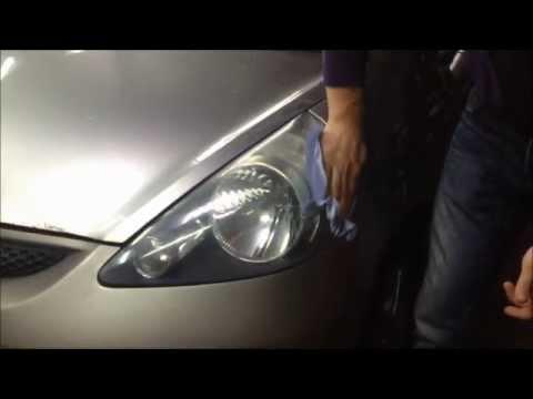 Восстановление фар Honda Fit за 5 минут без полировки!