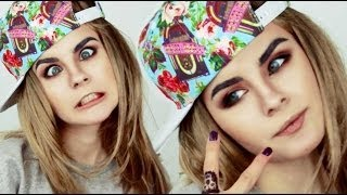 getlinkyoutube.com-Cara Delevingne make up tutorial by Anastasiya Shpagina