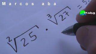 Raiz quadrada e Raiz cúbica e Expoente  -  Potenciação e radiciação