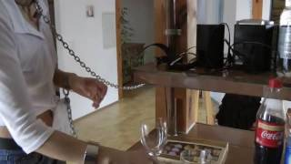 Girl's chained with collar at home