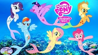 MY LITTLE PONY Transforms Into Mermaids MANE 6 Coloring Book Surprise Egg and Toy Collector SETC