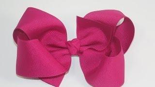 getlinkyoutube.com-How To Make A  Big Girl Boutique Hair Bow