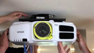 getlinkyoutube.com-Installing the Epson Pro Cinema G6550WU Projector and Screen Innovations SLATE