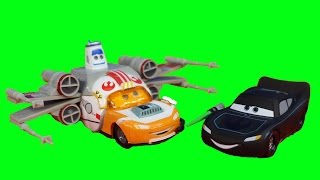 getlinkyoutube.com-Disney Pixar Cars Star Wars Lightning McQueen Darth Mater Han Solo Emperor Sarge