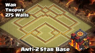 getlinkyoutube.com-Clash of Clans - Town Hall 10 Trophy/War Best Anti-2 Star Base | 275 Walls