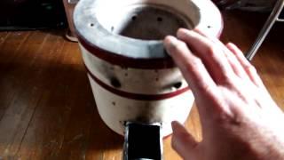 getlinkyoutube.com-廃油とマキを兼用する練炭コンロのロケットストーブ