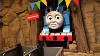 Giant Thomas n Friends Trains Percy, Gordon James Spencer Harvey Oliver at Thomas Land Ride
