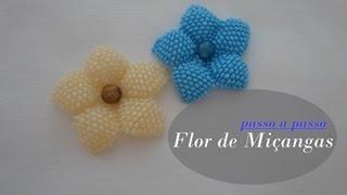 getlinkyoutube.com-NM Bijoux - Flor de Miçanga - passo a passo
