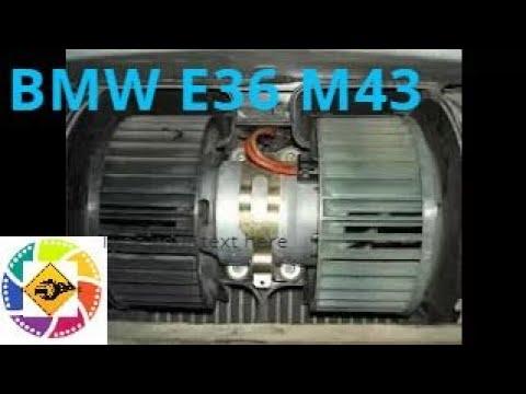 BMW E36 M43 1.8l как снять вентилятор печки отопителя How to remove the fan of a heater