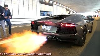 getlinkyoutube.com-Lamborghini Aventador shooting HUGE FLAMES!