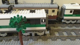 getlinkyoutube.com-Lego Train Chase - Lego Police Chase Part 2