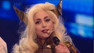getlinkyoutube.com-[HQ] Lady GaGa - Bad Romance [Live @ X Factor 2009] Intro & Interview