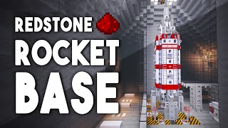 getlinkyoutube.com-EPIC REDSTONE ROCKET BASE (w/ Secret Rooms, Security Systems, & More!)