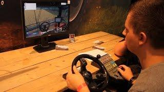 [LS15] Gamescom 2015: LS-Lenkrad, Pedale und Steuereinheit im Einsatz!