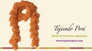 getlinkyoutube.com-Bufanda enrollada tejida en crochet