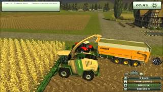 getlinkyoutube.com-Faming simulator 2013 insilato krone big x 1000 V24  Same diamond 300