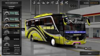 getlinkyoutube.com-Euro Truck Simulator 2 - Review AGAM TUNGGA JAYA Jetbus2 HD +