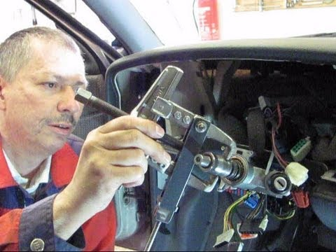 Replacing ignition starter switch at a VW Passat