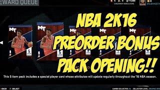 getlinkyoutube.com-NBA 2K16 Preorder Bonus Pack Opening!!