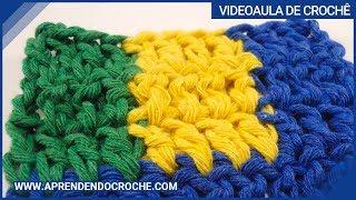 getlinkyoutube.com-Jacquard Fio Solto no Avesso - Aula 4 - Aprendendo Crochê