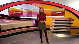 getlinkyoutube.com-Mareile Höppner - Brisant HD - 10.12.2016 - Red Blouse, Green Skirt, Nylons & Ankle Boots